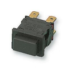 ARCOLECTRIC H8350AB  Switch Push Dpst Latching Black
